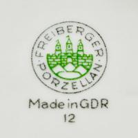 клеймо фарфоровой мануфактуры Freiberger Porzellan, ГДР 20 век.