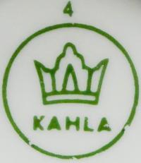 клеймо фарфоровый завод «Kahla» Германия, 20 век.