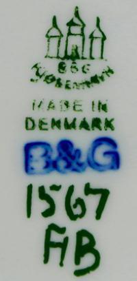 клеймо мануфактура «Bing & Grøndahl» Дания, 20 век.