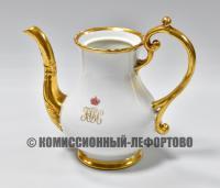 Кофейник с вензелем Великого князя Николая Николаевича Романова, Императорский фарфор 19 век.