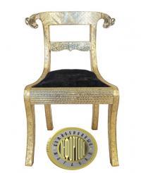 комплект из 10-ти стульев обитых чеканными листами металла с глубоким серебрением, франция XIX век.