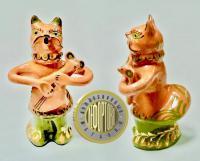 кошка и мышка, керамика Опошня УССР 1976 год