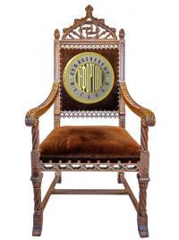 кресло резное в неоготическом стиле, европа XIX век.