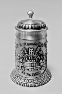 кружка пивная с крышкой Германия 1980 гг.