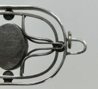 Кулон Нефрит серебро, период СССР 1990 гг.