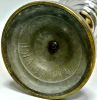 Лампа настольная керосиновая, пр - во Аболингъ до 1917 года.