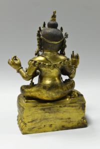 махакала грозное божество непал конец XIX века, скульптура буддийского пантеона