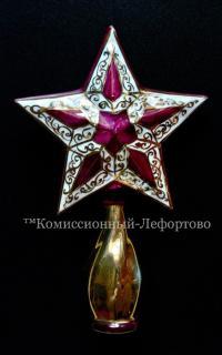 Макушка на ёлку, рубиновая Звезда.