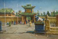 картина «монастырь Гандана» - Монголия.