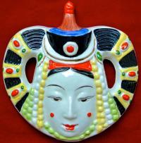 монголка, настенный портрет в национальном костюме