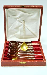 набор серебряных чайных ложек, период ссср 1960-1970 гг.