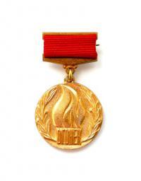 нагрудный знак лауреата премии журнала «Огонёк» 2005 года.