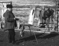 картина «На стоянке чабана», период ссср 1980 год.