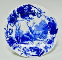 настенная декоративная тарелка «Олени» дулёво, период ссср 1970 год.