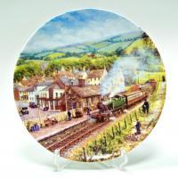 Настенная кабинетная коллекционная тарелка поезда «royal worcester» Англия