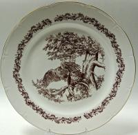 настенная тарелка охота, jlmenau гдр 1970 гг.