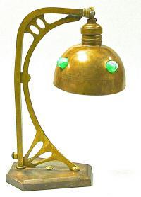 настольная лампа, стиль модерн ранние советы 1920 - 1930 гг.