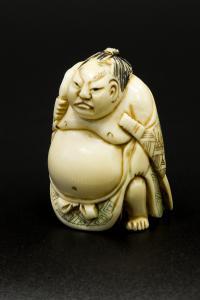 нецке борец сумо - сумотори период тайсё начало ХХ века.