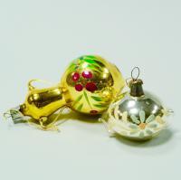 новогодняя ёлочная игрушка «самовар и чайник» период ссср 1960 гг.