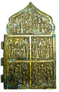 Образ похвалы Пресвятой Богородицы, четвертая часть складня 18 - 19 век.