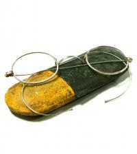 очки витажные в очешнике, период ссср 1920 - 1930 гг.