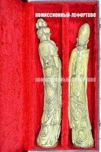 окимоно из пластика «мужская женская» фигуры.