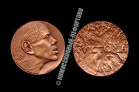 Памятная настольная медаль Константин Райкин 50 лет, 2000 год.