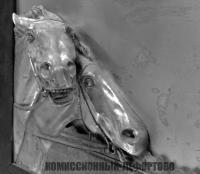 панно настенное горельеф «Пара лошадей-скачки», скульптор Георг Боммер Германия 1900 гг.
