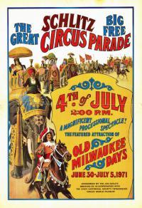 парад цирка Шлитца, афиша 1971 года.