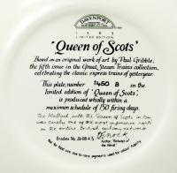 Паровозы Коллекционная серия тарелка настенная авторская Davenport Англия.