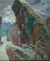 картина «Плач скала» - собственность частной коллекции.