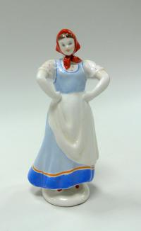 плясунья «Девушка в красном платке» лфз, период ссср 1960 год
