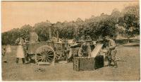 почтовая карточка «Картины великой войны, приготовляют обед», «т - во Эйнемъ» 1914 год.