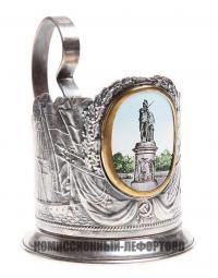подстаканник «памятник А. В. Суворову» Ленэмальер, период ссср 1940-1950 гг.