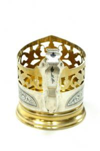 подстаканник серебро 875 проба период ссср «Кубачи».