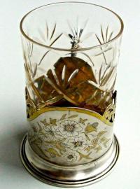 подстаканник серебрянный, период ссср 1954 год.