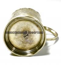 подстаканник серебряный К.Ф, императорская Россия XIX век.