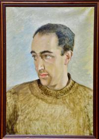 портрет Крук Б.А. 1985 год, художник Любимов Л.А.