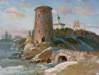 картина «Псков гремячая башня» - собственность частной коллекции