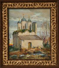 псков собор Ивановского монастыря этюд - собственность частной коллекции
