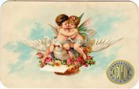 рекламная визитная карточка «большой Московской гостиницы», период до 1917 года.