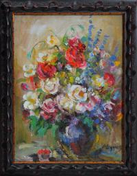картина «Розы» - собственность частной коллекции.