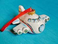Самолёт, ёлочная игрушка.