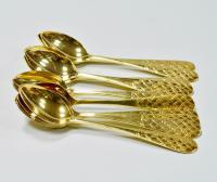 серебряные чайные ложки, набор 12 штук период ссср 1960-1970 гг.