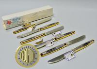 серебряные столовые ножи Звезда красоты, период ссср