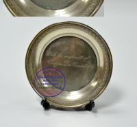 серебряный миниатюрный, подарочный поднос 1950 гг.