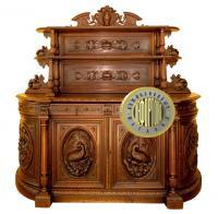 сервировочный стол в охотничьем стиле, европа XIX век.
