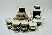 сервиз чайный кобальт золото Elegant Weimar ГДР 1970-1980 гг.