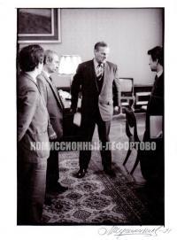 А. Собчак председатель Ленсовета и его помошник Путин В. апрель 1991 год.
