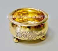 солонка серебряная, 19 век Российская империя.